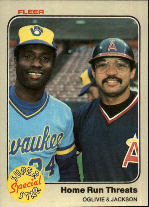 1983 Fleer #640 Ben Oglivie/Reggie Jackson
