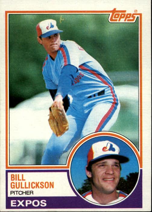 1983 Topps #31 Bill Gullickson