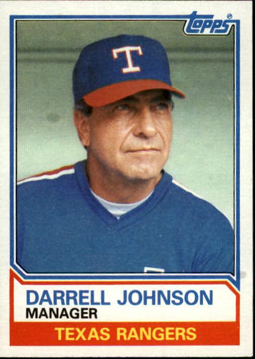 1983 Topps #37 Darrell Johnson MG