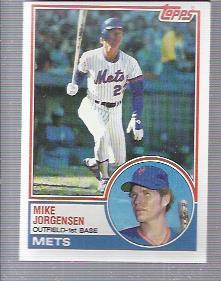 1983 Topps #107 Mike Jorgensen