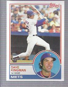 1983 Topps #160 Dave Kingman