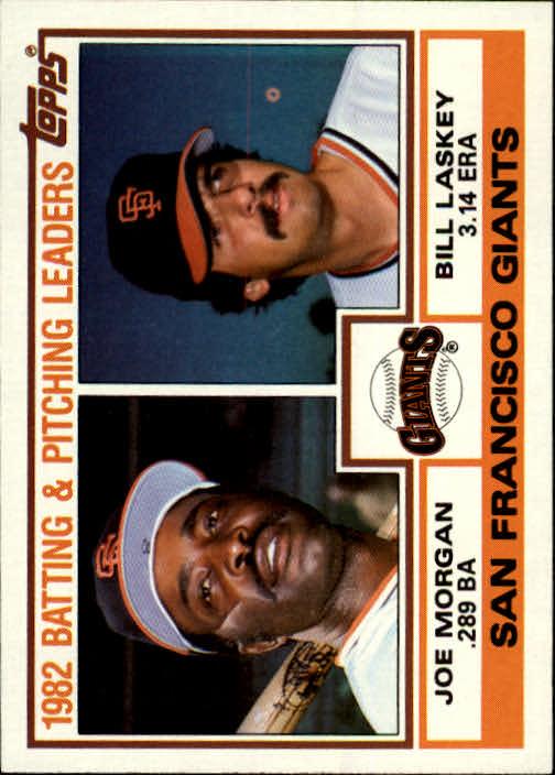 1983 Topps #171 Giants TL/Joe Morgan