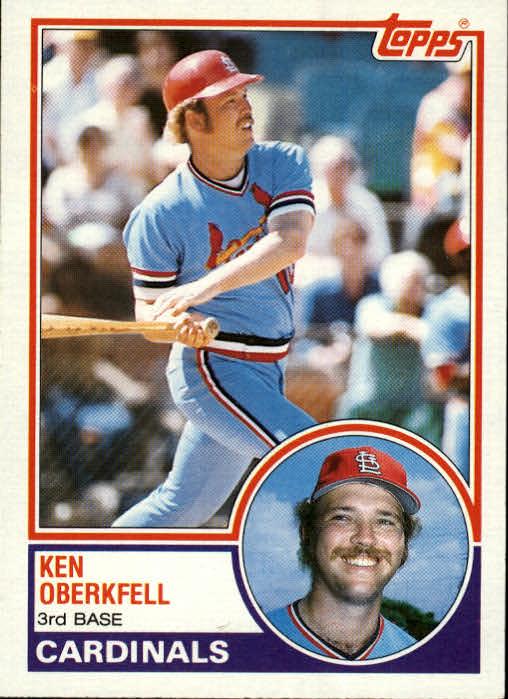 1983 Topps #206 Ken Oberkfell