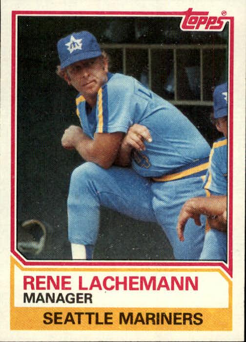 1983 Topps #336 Rene Lachemann MG