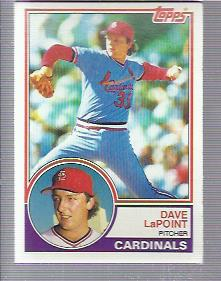 1983 Topps #438 Dave LaPoint