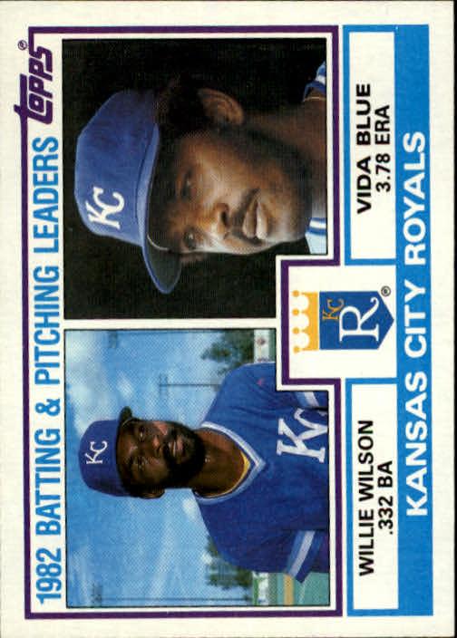 1983 Topps #471 Kansas City Royals TL/BA: Willie Wilson/ERA: Vid