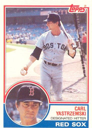 1983 Topps #550 Carl Yastrzemski