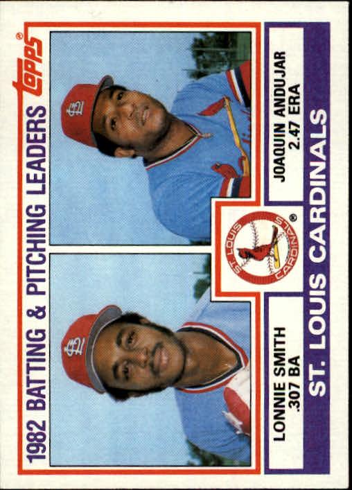 1983 Topps #561 Cardinals TL/BA: Lonnie Smith/ERA: Joaquin Anduj