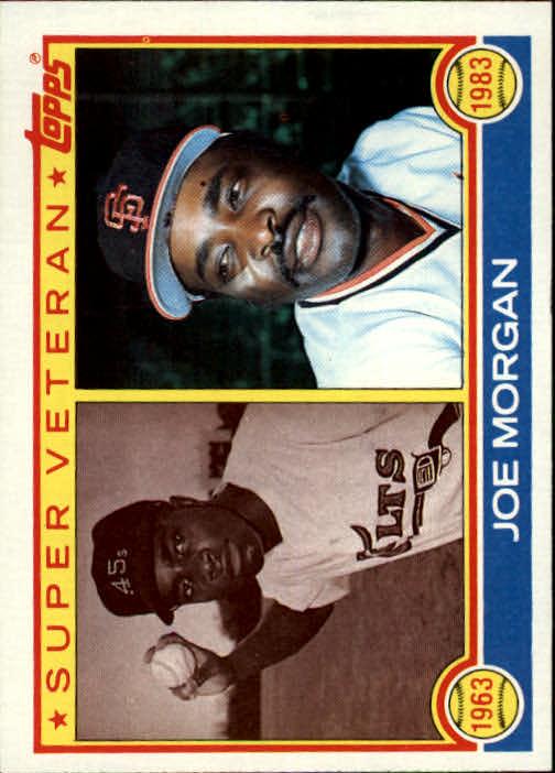 1983 Topps #604 Joe Morgan SV