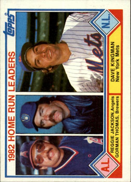 1983 Topps #702 Reggie/Thomas/Kingman LL