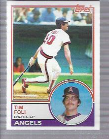 1983 Topps #738 Tim Foli