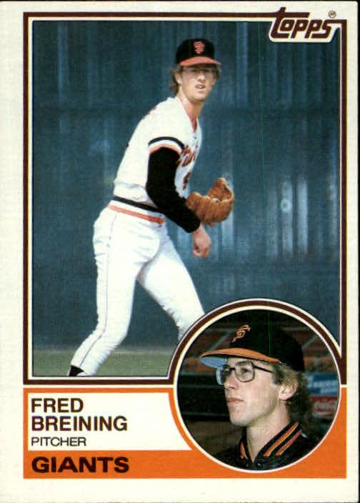 1983 Topps #747 Fred Breining