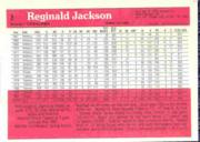 1983 Donruss Action All-Stars #3A Reggie Jackson ERR/(Red screen on back/covers so back image