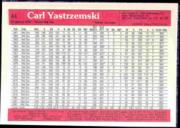1983 Donruss Action All-Stars #44 Carl Yastrzemski back image