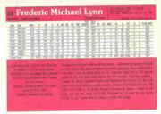 1983 Donruss Action All-Stars #59 Fred Lynn back image
