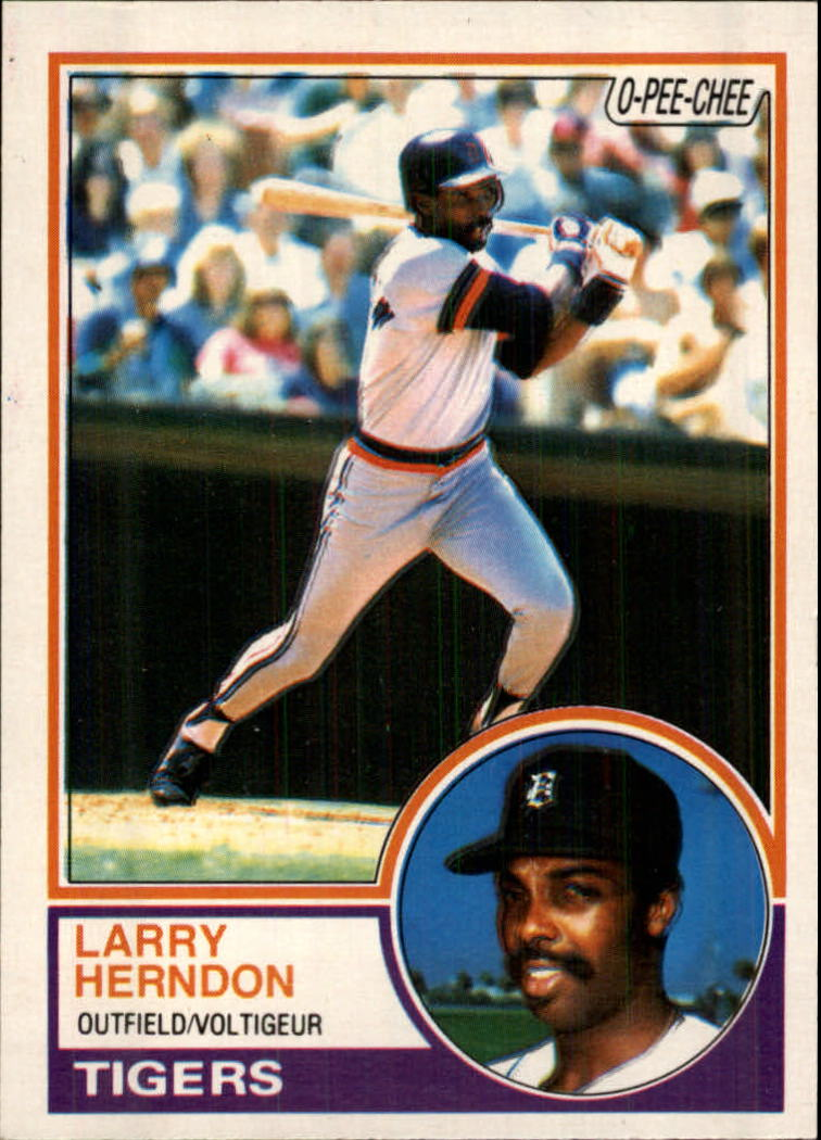 1983 O-Pee-Chee #13 Larry Herndon