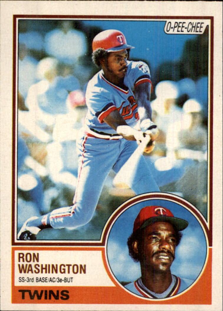 1983 O-Pee-Chee #27 Ron Washington