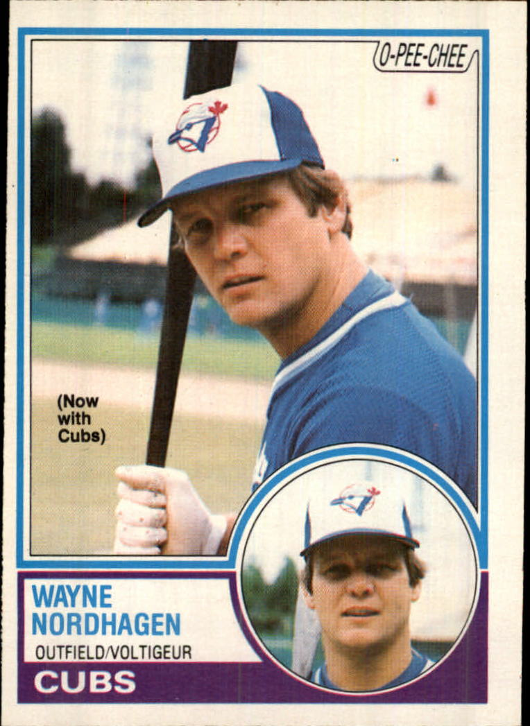 1983 O-Pee-Chee #47 Wayne Nordhagen/Now with Cubs