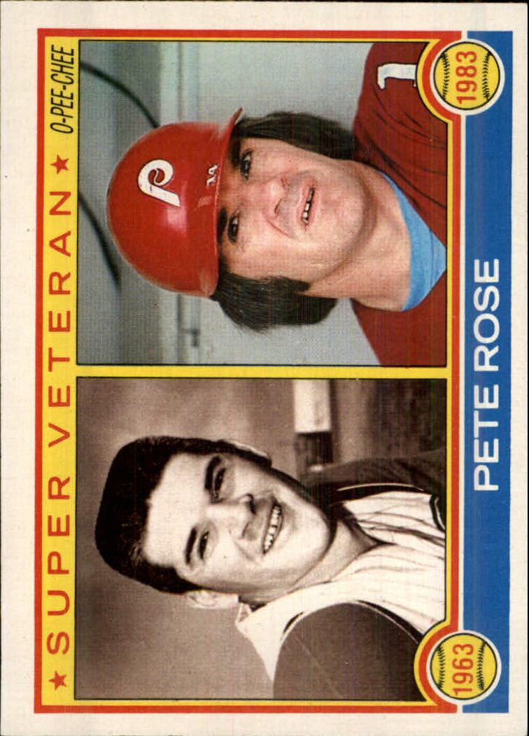 1983 O-Pee-Chee #101 Pete Rose SV