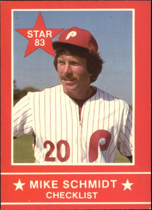 1983 Star Schmidt #1 Mike Schmidt/Checklist