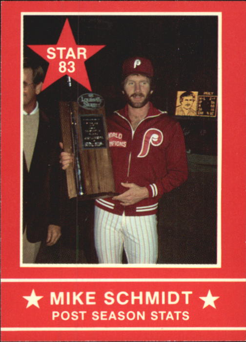 1983 Star Schmidt #3 Mike Schmidt/Post Season Stats