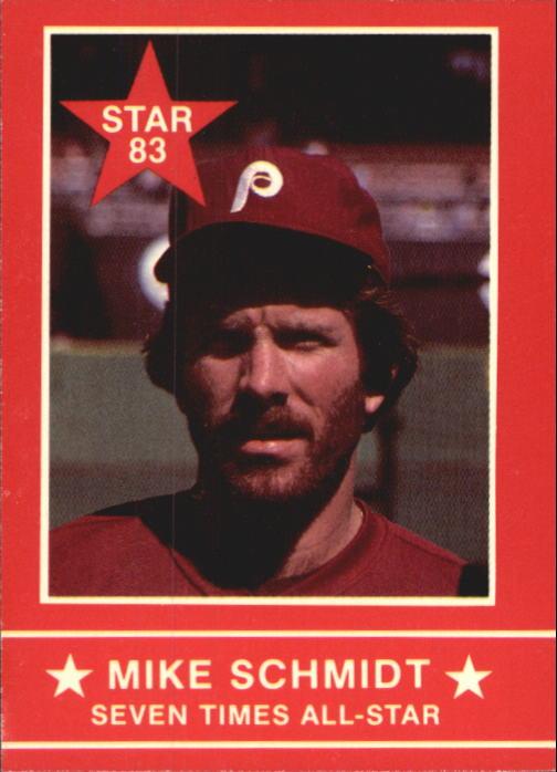 1983 Star Schmidt #5 Mike Schmidt/Seven Times A-S