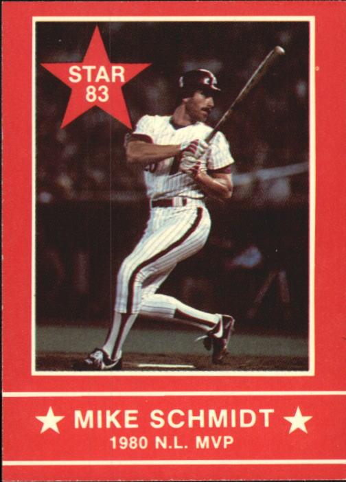 1983 Star Schmidt #6 Mike Schmidt/1980 N.L. MVP