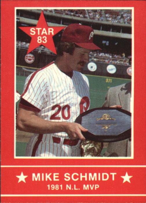 1983 Star Schmidt #7 Mike Schmidt/1981 N.L. MVP