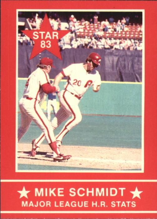 1983 Star Schmidt #8 Mike Schmidt/ML;HR Stats