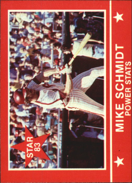 1983 Star Schmidt #9 Mike Schmidt/Power Stats