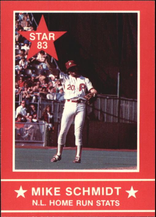 1983 Star Schmidt #12 Mike Schmidt/N.L. HR Stats