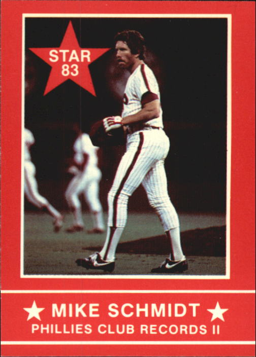 1983 Star Schmidt #14 Mike Schmidt/Phillies Club Records II