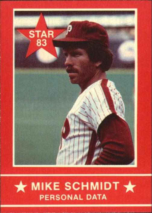 1983 Star Schmidt #15 Mike Schmidt/Personal Data