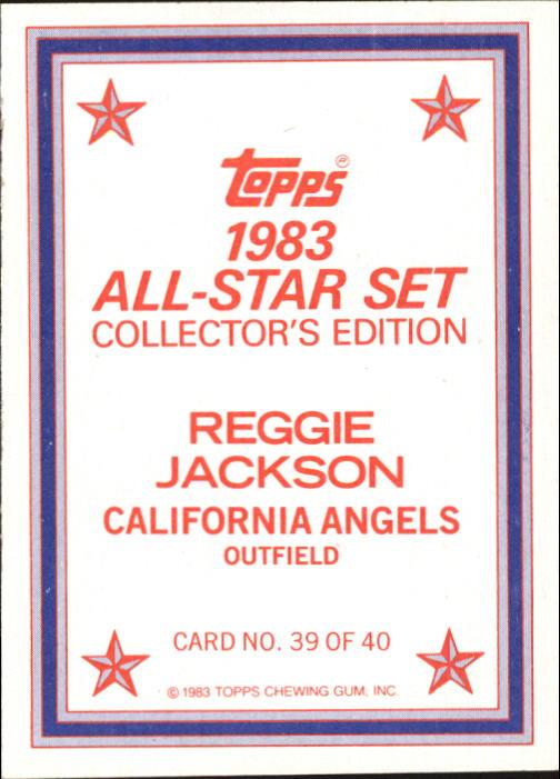 1983 Topps Glossy Send-Ins #39 Reggie Jackson back image