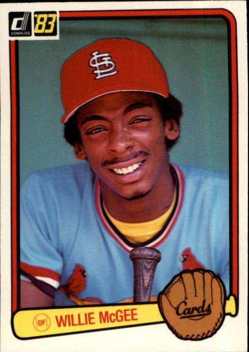 1983 Donruss #190 Willie McGee RC