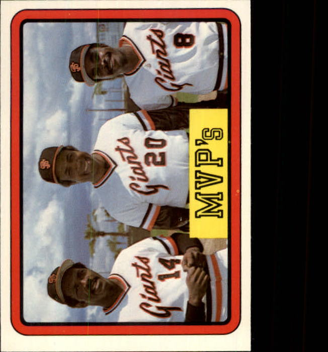1983 Donruss #648 Frank Robinson/Vida Blue/Joe Morgan