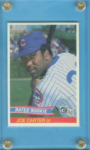 1984 Donruss #41 Joe Carter RR RC