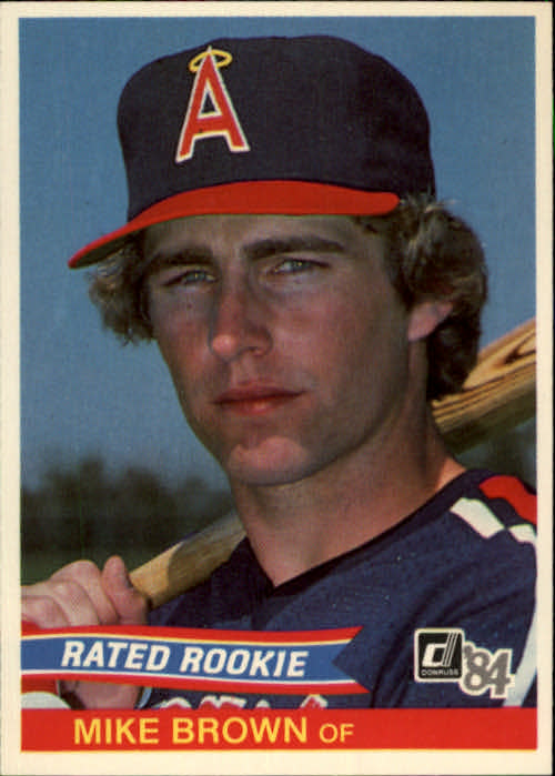 1984 Donruss #42 Mike C. Brown RC/Angels OF