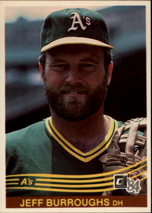 1984 Donruss #156 Jeff Burroughs