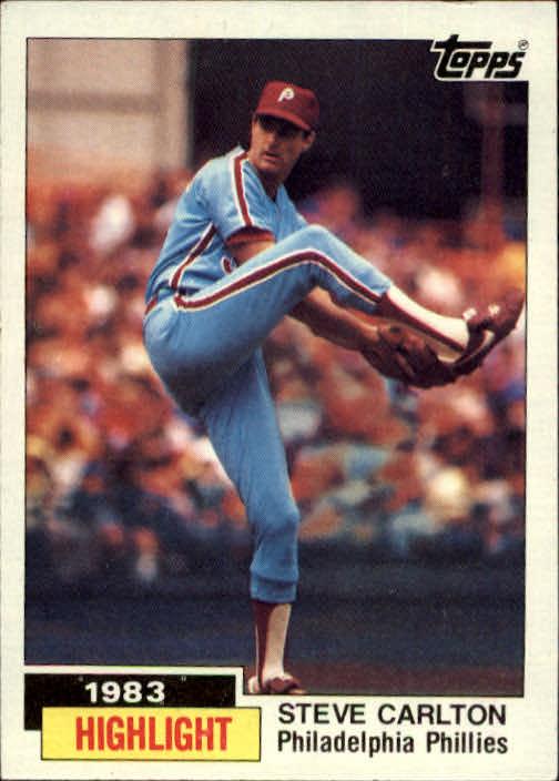 1984 Topps #1 Steve Carlton HL