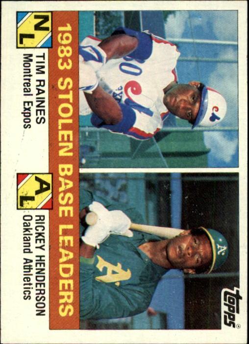 1984 Topps #134 T.Raines/R.Henderson LL