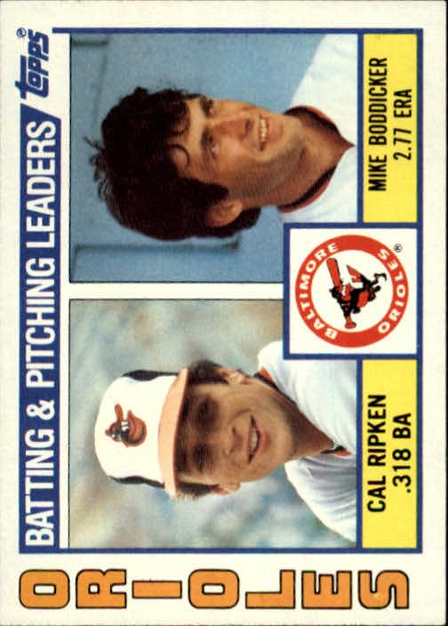 1984 Topps #426 Orioles TL/Cal Ripken