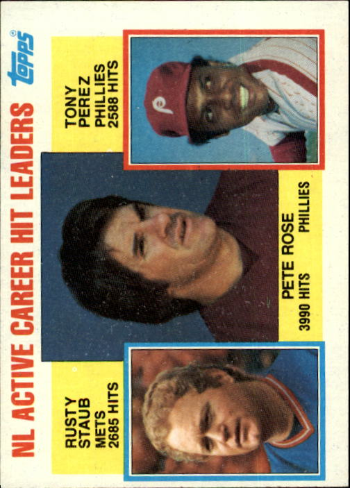 1984 Topps #702 Rose/Staub/Perez LL