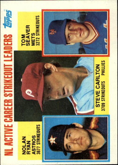 1984 Topps #707 N.Ryan/Seaver/Carlton LL