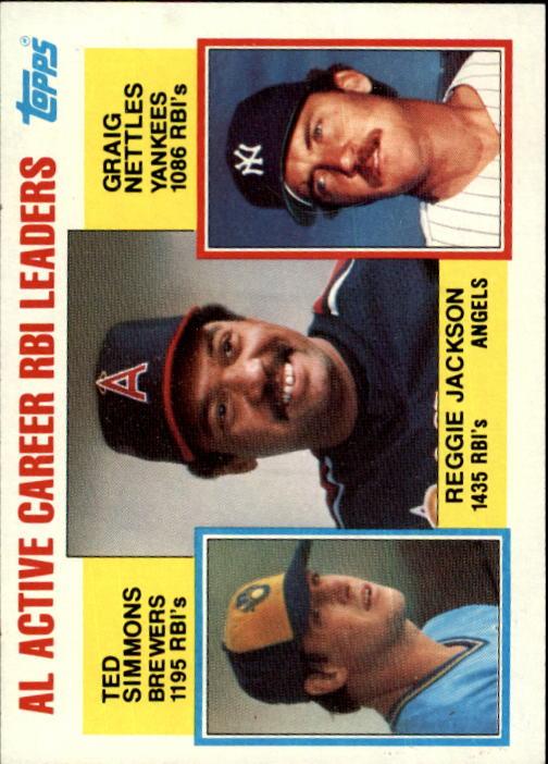 1984 Topps #713 Reggie/Simmons/Nett LL