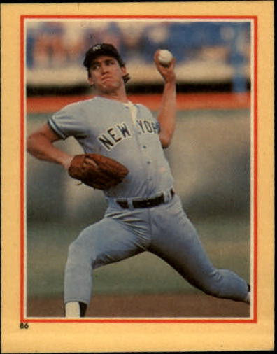 1984 Fleer Stickers #86 Dave Righetti