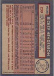 1984 O-Pee-Chee #230 Rickey Henderson back image