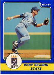 1984 Star Brett #4 George Brett/Post Season Stats