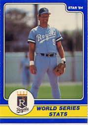 1984 Star Brett #5 George Brett/World Series Stats