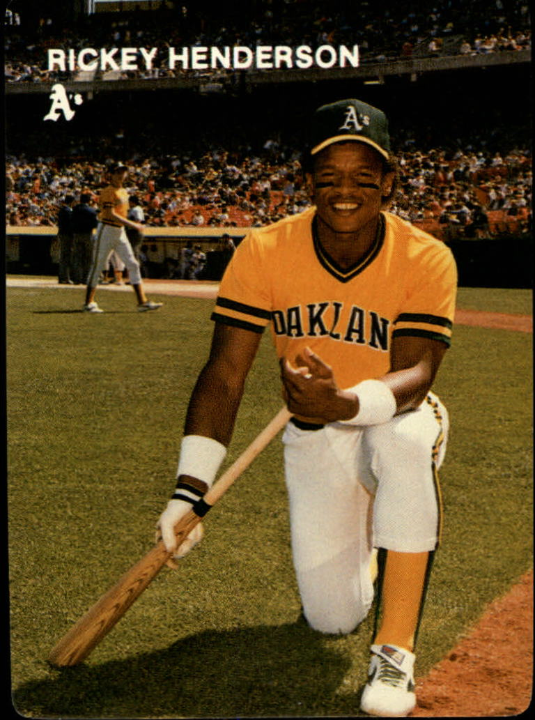 1984 A's Mother's #2 Rickey Henderson